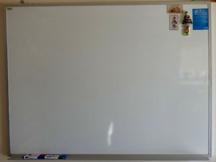 Aluminium Framed Magnetic Whiteboard in good condition
