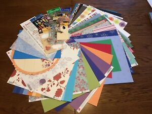Assorted scrapbook paper and stickers