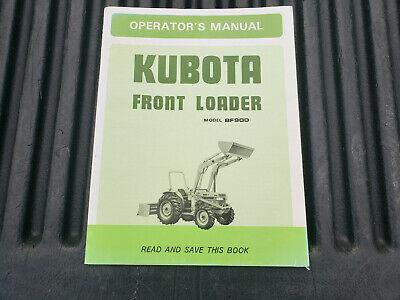Kubota Bf900 Front End Loader Operators Parts Maintenance Manual Oem Nice