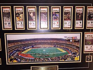 Pittsburgh Steelers framed picture and tickets