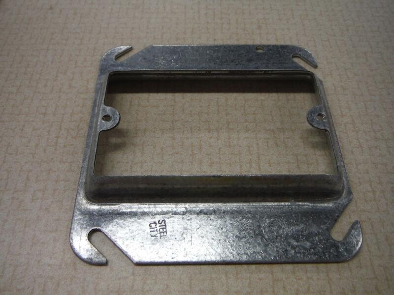Junction Box Cover Galvanized Narrow Raised Plaster Ring 4x4