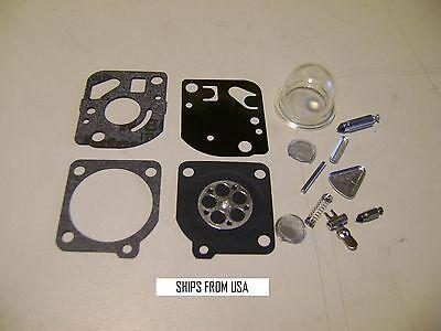 10X Carburetor Repair Kit Zama RB47 Weed Eater Craftsman Blowers Poulan Trimmer