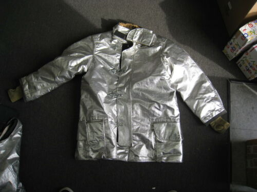 Janesville LION Firefighter Proximity Jacket Size 44 x 35 R Aluminized Turn Out