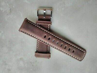 Long/Reg/Short SIGNATURE Travellers GENUINE LEATHER WATCH BAND + pins