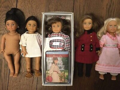 American Girl Lot of 5 Mini Dolls: Samantha, Caroline, Rebecca, Josefina X2