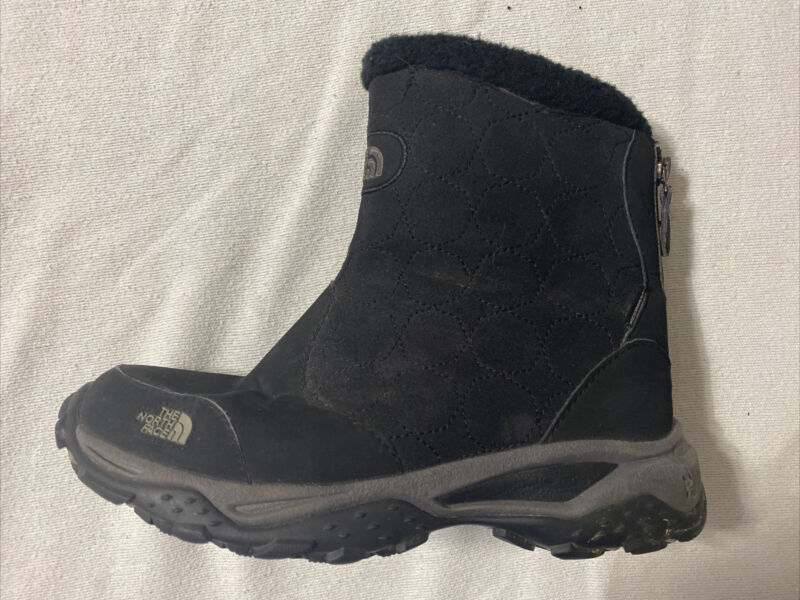 The North Face H.O.T. Black Girls Waterproof Boots - Size 5
