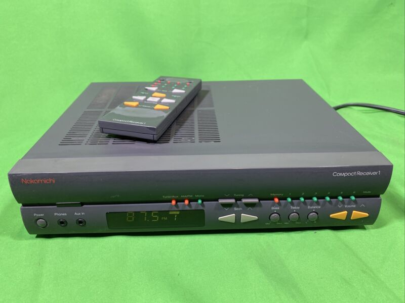 Vintage Nakamichi Compact Receiver 1 Tuner MADE IN JAPAN bundle w REMOTE CONTROL