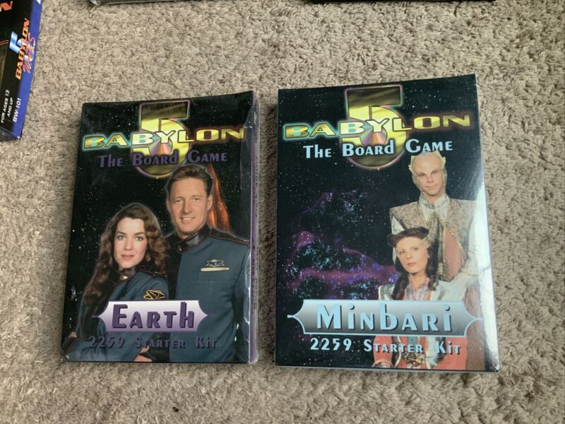 Babylon 5 Board Game Collection Of 2 Different Starter Sets. New In Wrap.
