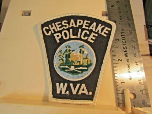Chesapeake Police WV West Virginia patch NOS black white green