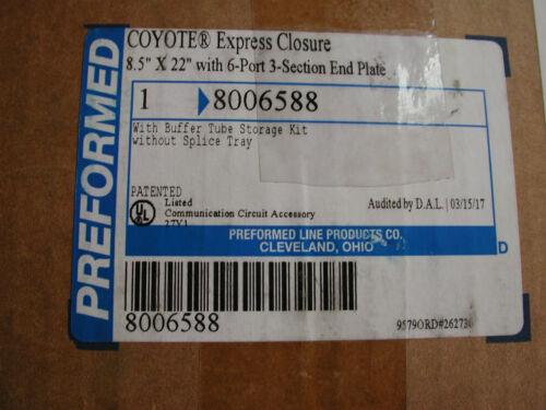 """Preformed Coyote Express Closure 8006588 8""""x22"""" for Fiber OpticSplices"""