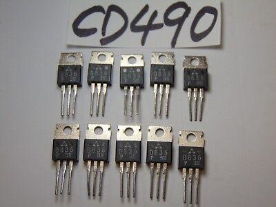 10 Vintage New Transistor Lot Electronics D836 836