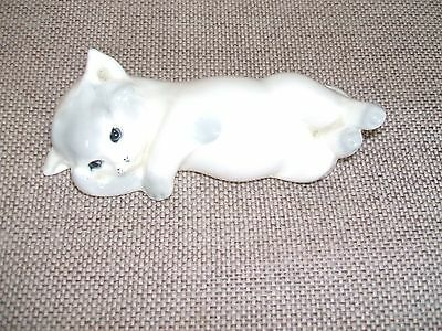 VINTAGE W R MIDWINTER LTD  RARE  WHITE /GRAY KITTEN 1940s