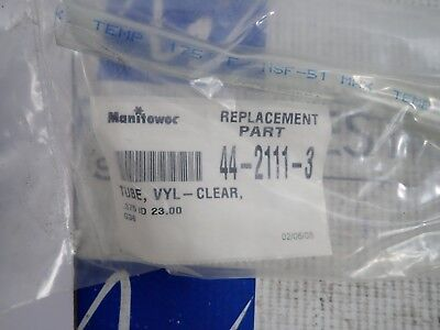 Manitowoc Replacement Parts 44-2111-3 Clear Vinyl Tube