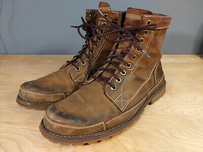 Timberland Earthkeepers Men 15551 Brown Burnished Leather Lace Up Boots Sz 10.5