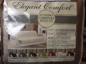 'Elegant Comfort' Reversible Furniture  Protector - Loveseat