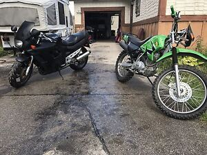 Motorcycle and dirt bike for sale or trade