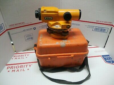 Nikon Ax-1 Automatic Surveyor Level And Case Used Sold As Is Look Free Sh