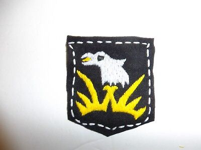 b1953 US Army 1930's-WW 2 101st Infantry Division patch black PA14