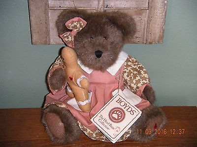 "Boyds Bears PLUSH 2002  ~10"" KASSIE GINGERBEARY~   THE ARTISAN COLLECTION"