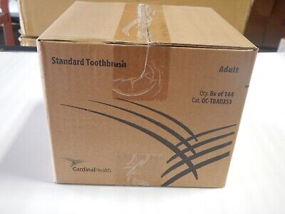 Cardinal Health Standard Toothbrushes Box Of 144 Cat Oc-tbadx51