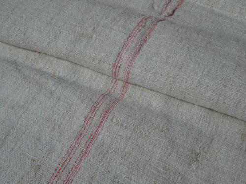Antique European Feed Sack GRAIN SACK Red Stripe # 9971