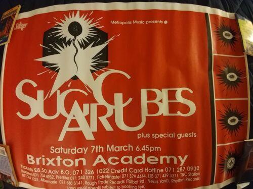 Bjork Sugarcubes Concert Poster Brixton RARE