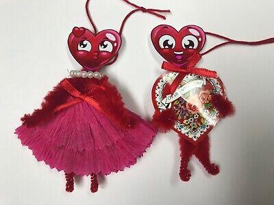 VALENTINE'S day ornaments, vintage feather tree ornaments, gift tag, item #23, usado comprar usado  Enviando para Brazil