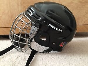 Bauer Hockey Helmet with Cage and Bauer Hockey Skates