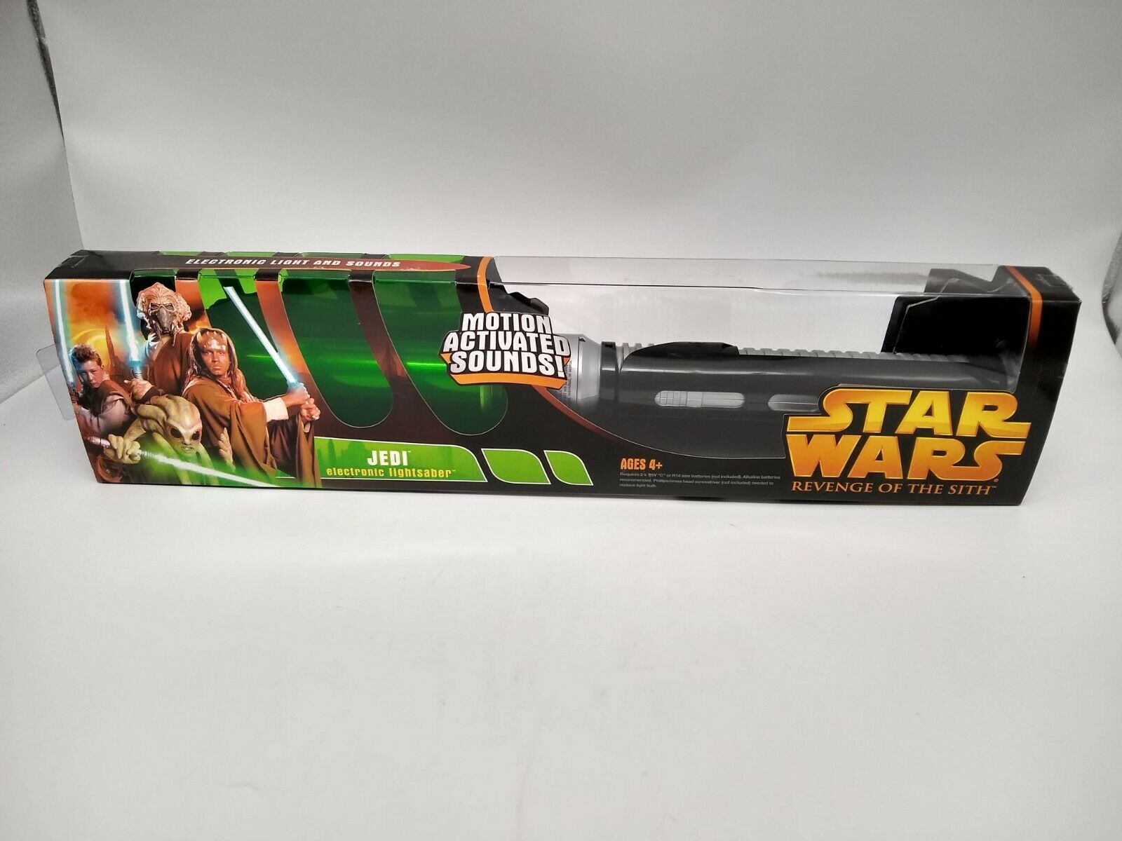 Star Wars Revenge of the Sith Jedi Electronic Lightsaber - Factory Sealed