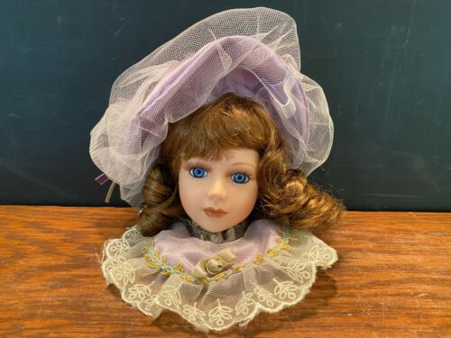 Dan Dee Porcelain Doll Head Christmas Ornament Home Decor Victorian Style