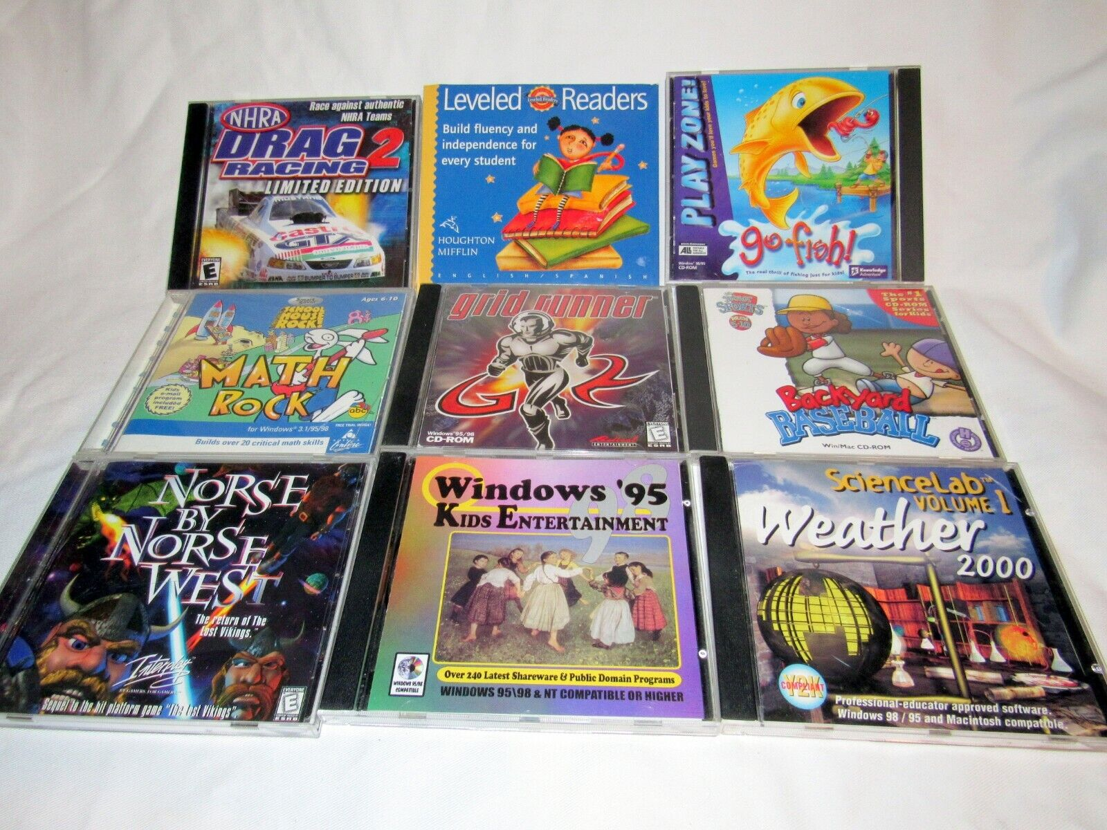 Computer Games - Lot of 9 Vintage Classic PC Computer Games