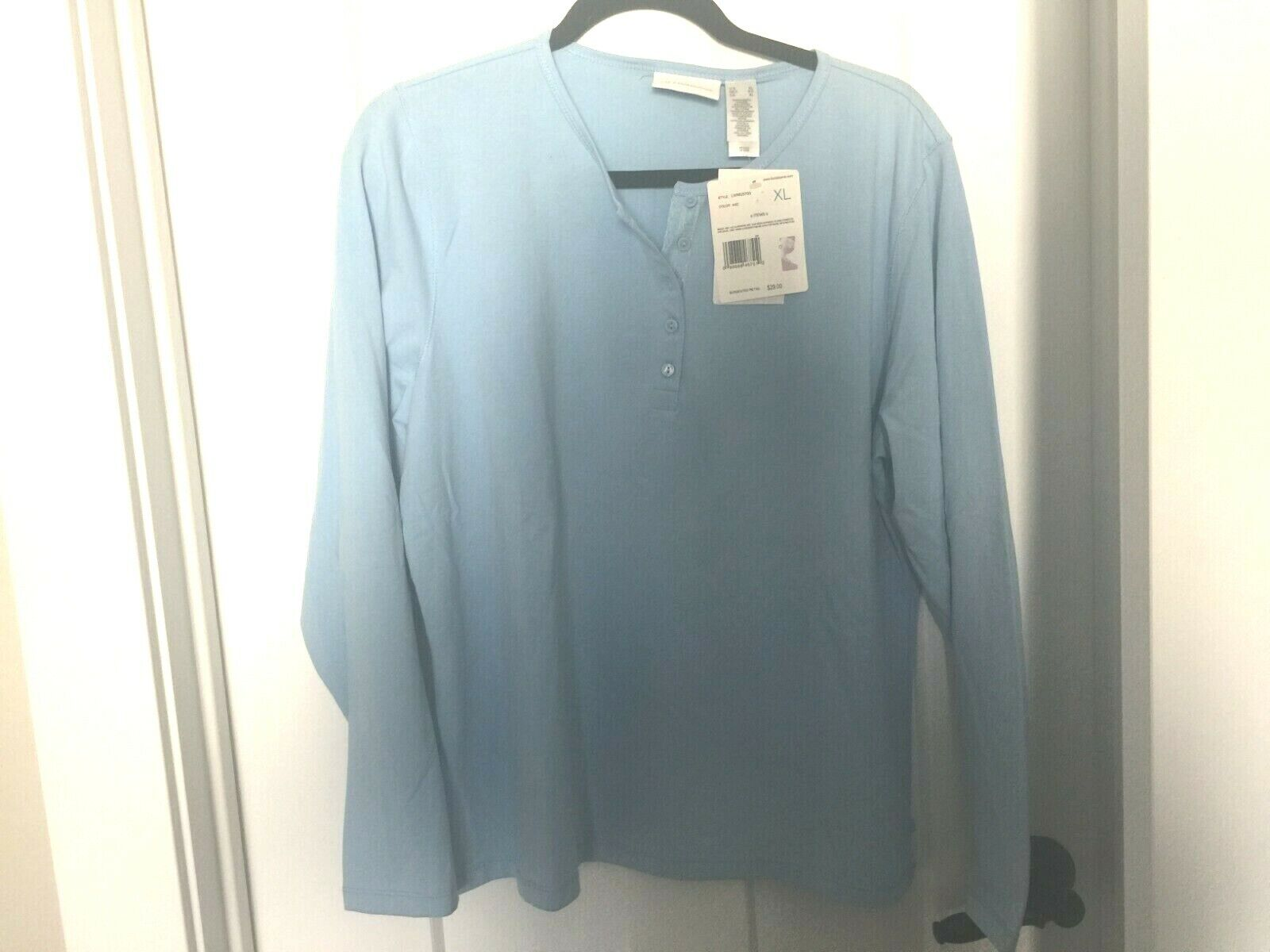 NEW WITH TAGS! ~LIZ CLAIBORNE~ STRETCH COTTON KNIT TOP LIGHT