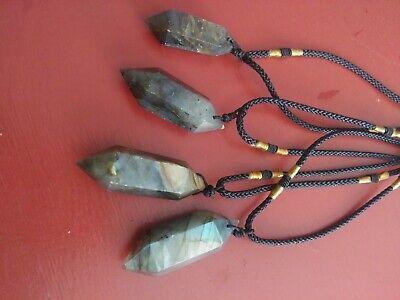Labradorite Adjustable Healing Crystal Necklace Protection Transformation