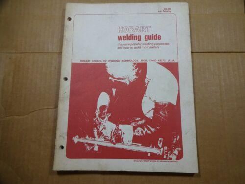 1969 Hobart Welding Guide EW-385 School of Welding