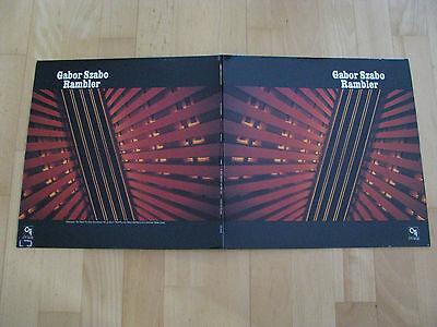 Gabor Szabo Rambler Gatefold sleeve Van Gelder CTI Records US 1974 Vinyl