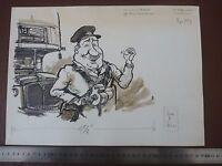 Vintage London Transport A Jolly Bus Conductor . Pen & Ink Orig 20thc Illus,bill -  - ebay.co.uk