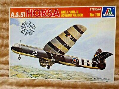 Italeri A.S.51 HORSA MK.I/MK.II Assault Glider No 116 1:72 Scale