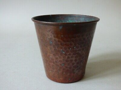 COLLECTABLE OLD ANTIQUE COPPER BREWERIANA BEER FLUID CAN CUP POT FREE UK P+P