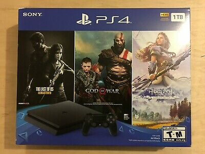 NEW Sony PlayStation 4 PS4 Slim 1TB Console 3 Game Bundle - FAST FREE SHIPPING
