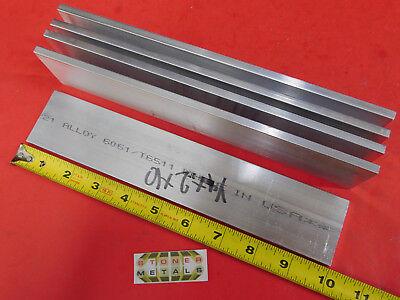 5 Pieces 14 X 2 Aluminum 6061 T6511 Flat Bar 10 Long New Mill Stock .25x2
