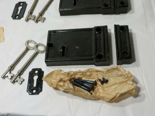 NOS Sargent Complete set Antique Door Rim Dead bolt lock hardware skeleton keys