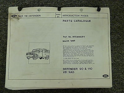 1993 1994 1995 Land Rover Defender 90 110 Parts Catalog Manual March 1996