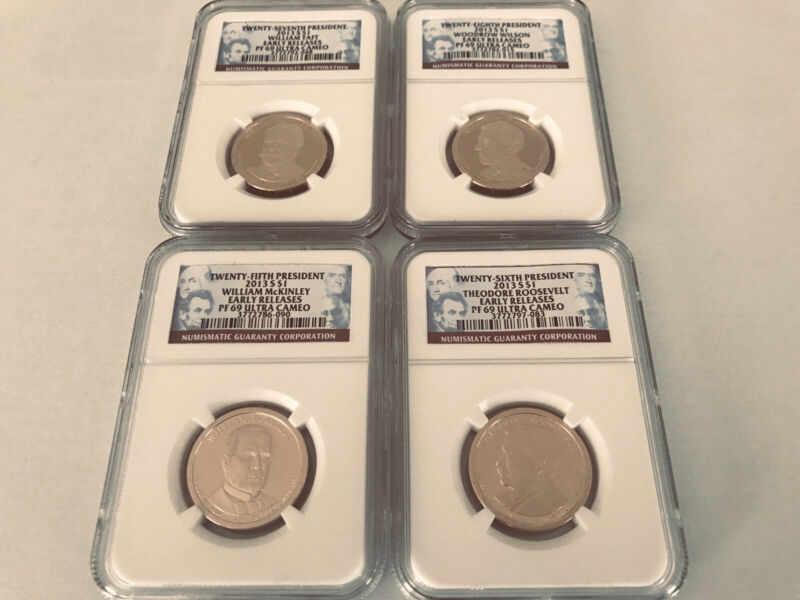 "2013-S PRESIDENTIAL DOLLAR SET  NGC PF69 ULTRA CAMEO ""NGC VALUE $80"""