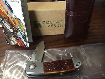 RARE NIB CRKT COLUMBIA RIVER LAKE'S P.A.L.FOLDING KNIFE