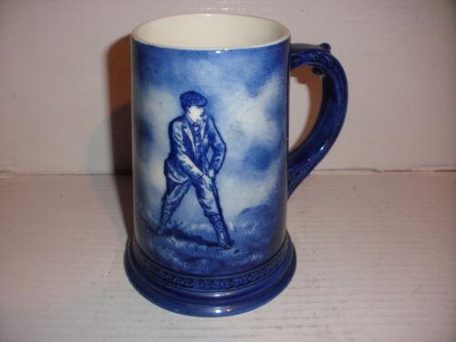 Rare antique circa 1890s Lenox CAC Ceramic Art Company porcelain golf mug golfer