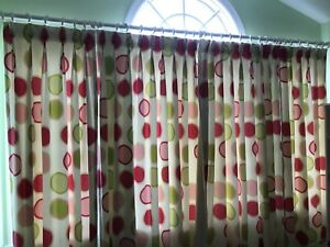 Cotton canvas curtains (9ft wall)