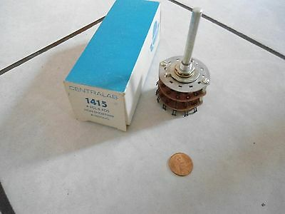 Centralab Rotary Switch 1415 4 Pole 5 Pos