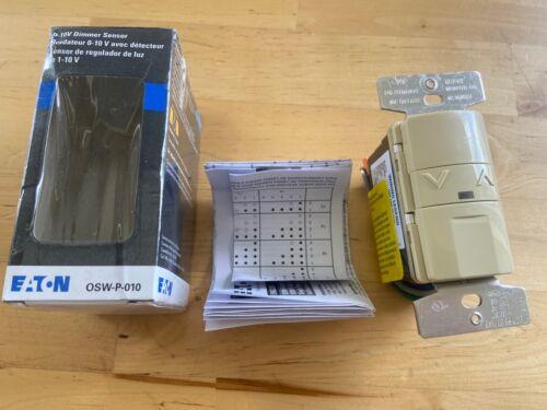 NEW! Eaton OSW-P-010 0-10V Multi-Volt Occupancy Lighting Dimmer Sensor, Ivory
