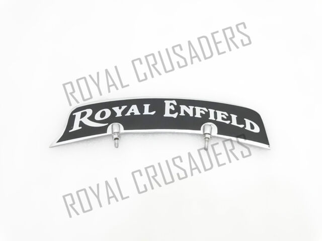 NEW ROYAL ENFIELD FRONT MUDGUARD NUMBER PLATE BRASS CHROME