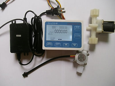 G14 Water Flow Control Lcd Displayflow Sensor Solenoid Valve Power Adapter